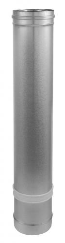 Elément droit réglable inox/galva 3CEp concentrique