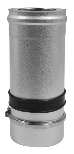 Elément droit réglable court inox/galva 3CEp concentrique