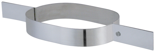 Collier tubage série oblong inox 304