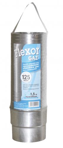 Conduit de raccordement flexible Flexor Gaz avec raccord