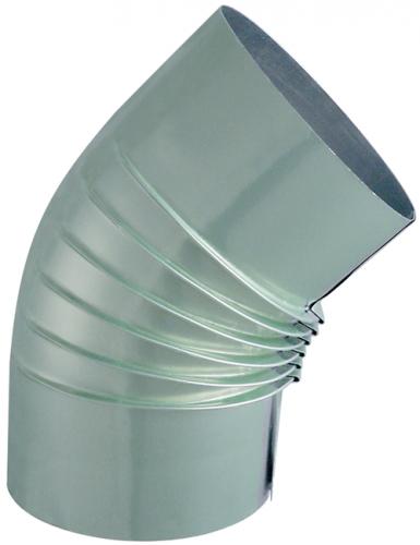 Coude plissé Aluminium Alugaz