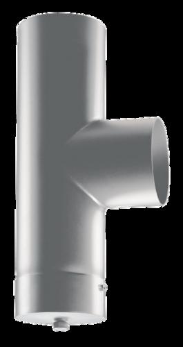 Té 90° + tampon raccordement acier peint 2mm