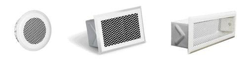 Grilles d'air chaud métal déployé décompression FP