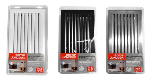 Grilles d'air chaud à lamelles décompression hotte  - gamme LS